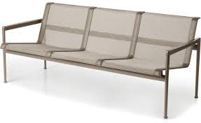 Canape Florence Knoll 1966 Three Seat Lounge Chair With Arms Hivemodern Com
