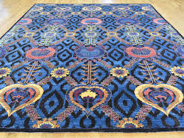 Arts And Crafts Rug 9 U0027x12 U0027 Hand Knotted Wool And Silk Modern Arts And Crafts Rug