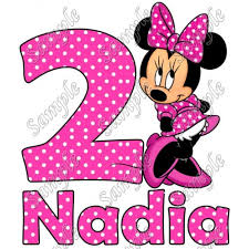 minnie mouse pink birthday personalized t shirt iron on transfer 17