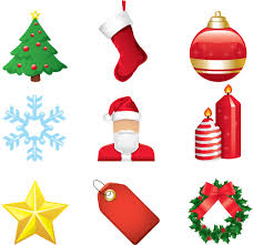 christmas cartoon elements vector free vector 4vector
