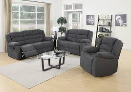 Reclining Sofas And Loveseats Us Pride Furniture 3 Grey Fabric Reclining Sofa
