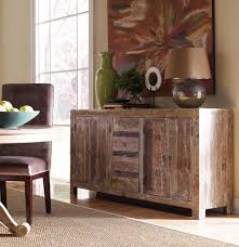 hampton rustic teak wood buffet sideboard zin home