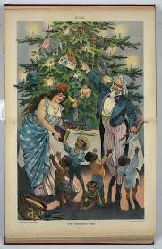 old christmas tree prints and historic facts about christmas