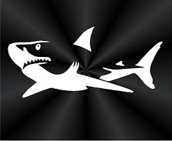 shark decals great shark fish fishing boat tablet