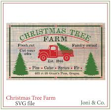 christmas tree truck svg red truck svg rustic country farm