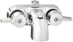 heavy duty 3 3 8 centers chrome plated diverter clawfoot tub