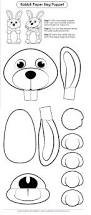 easter bunny face pattern printable outline crafts