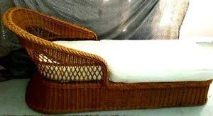 Chaise Lounge Chair Cushion Vintage Henry Link Rattan Wicker Chaise Lounge Chair Cushion