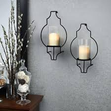 Wrought Iron Candle Wall Sconces Sconce Candle Wall Sconce Set Decorative Black Wrought Iron