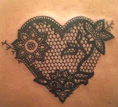 28 best heart lace tattoo designs images on pinterest lace