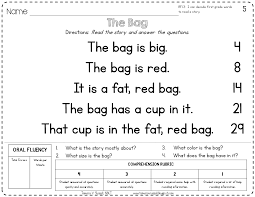worksheet reading passage for kindergarten wosenly free worksheet