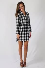 black u0026 white plaid shirt dress u2013 scoobie