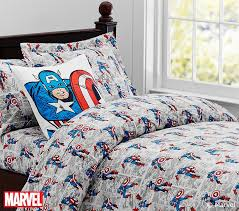Marvel Double Duvet Cover Captain America Comic Duvet Cover Pottery Barn Kids