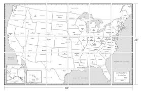 United States Map Template by Coloring United States Coloring Map