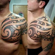 shoulder to chest tattoo 24 tribal shoulder tattoo designs ideas design trends