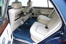 rolls royce inside limo rolls royce silver spur 35k perfect car leather interior owners books