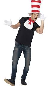 cat in the hat costume cat in the hat costume kit for adults by smiffys 42921 karnival