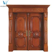 Carved Exterior Doors China Products Exquisite Carved Solid Wood Italian Style Exterior
