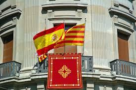 Picture Of Spain Flag Caixa De Catalunya Savings Bank Spain