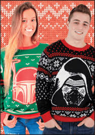 enter to win an ugly star wars christmas sweater in the new coffee