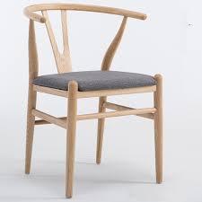 Modern Dining Chairs Modern Dining Chair With Fabric Cushion Hans Wegner Wishbone Chair