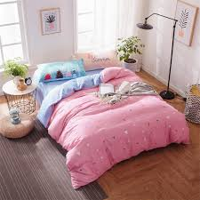 Japanese Bedding Sets Japanese Style Cotton Bedding Set Pink Bird Pattern Duvet Cover
