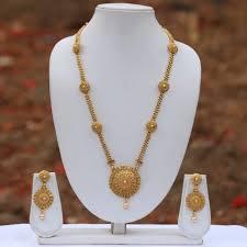 gold long necklace images Buy craftsvilla beautiful golden long necklace set online jpeg