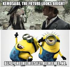 Despicable Me Meme - box office report minions giggle at tonto
