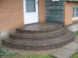 rounded paver steps rounded concrete steps jpg step stuff