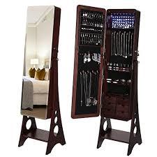 mirror jewelry armoires standing mirror jewelry armoires for sale zen merchandiser