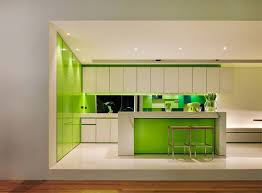 contemporary kitchen interiors green kitchen interiors for home design ideas home living