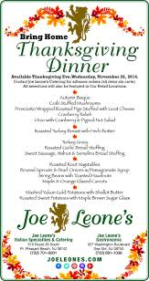 enjoy the bring home thanksgiving dinner available