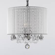 Attractive White Chandelier With Shades G7 11266 Gallery