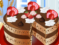 Christmas Cheesecake Decoration - chocolate cake decoration cooking games