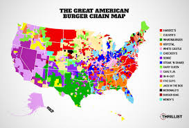Map Of Greater Phoenix Area by Most Popular American Burger Chains Map In N Out Sonic Five
