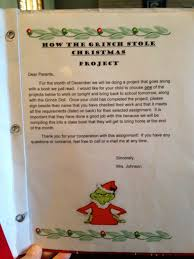 grinch writing paper thrilled in third how the grinch stole christmas writing and each night 2 students bring home the folder and a grinch doll i purchased them for 5 at kohl s they are to choose a writing project to complete that