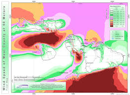 Resource Map High Resolution Wind Resource Maps Maui Electric