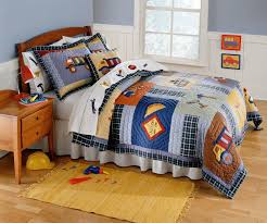 Twin Airplane Bedding by Construction Time Bedding For Boys Twin Size 2pc Quilt Set Kids