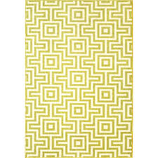 Yellow Indoor Outdoor Rug Birds Eye Labyrinth Pattern Indoor Outdoor Rug