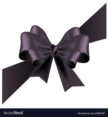 funeral ribbon funeral card with black ribbon royalty free vector image