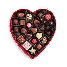 valentines chocolate s day fabric heart chocolate gift box 25 pc godiva
