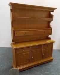 kitchen dining hutch bureau cabinet t6114 1 12 walnut dollhouse