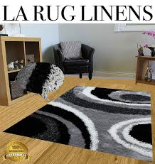 Furry Black Rug La Rug Linens Huge Blowout Sale White Black Dark Gray Light Gray
