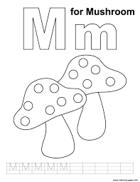free alphabet s m for mushroomb688 coloring pages printable