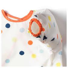 ikea kladdig soft baby feeding bib kids craft apron long sleeves