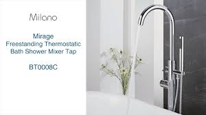 milano mirage freestanding thermostatic bath shower mixer tap