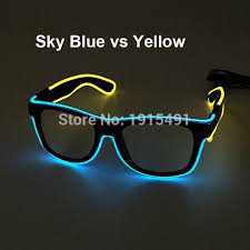 party sunglasses with lights 2017 new style birthday party decor el wire sunglasses novelty