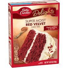 amazon com betty crocker super moist cake mix red velvet 15 25