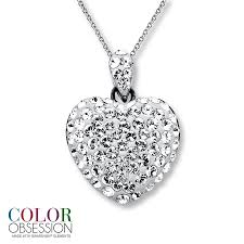 swarovski platinum necklace images Kay swarovski elements heart necklace sterling silver jpg