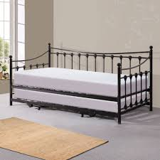 white metal twin headboard daybeds upholstered daybed overstock size crate and barrel